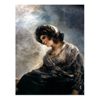 Goya, The Milkmaid of Bordeaux 182527 Oil on canva Postcard
