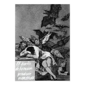Goya The Sleep of Reason Produces Monsters 13 Cm X 18 Cm Invitation Card