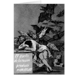 Goya The Sleep of Reason Produces Monsters Greeting Card
