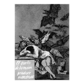 Goya The Sleep of Reason Produces Monsters Personalized Invitations