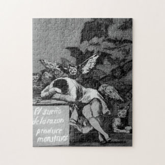 Goya The Sleep of Reason Produces Monsters Puzzle