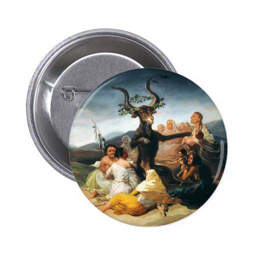 Goya Witches Sabbath Button
