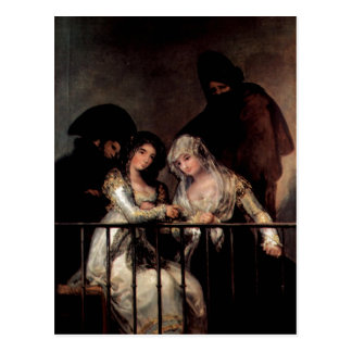 Goya y Lucientes, Francisco de Majas on a Balcony  Postcard