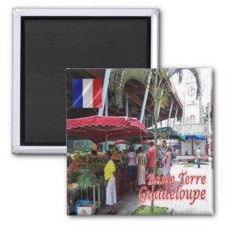 GP - Guadeloupe - Basse Terre - Spice Market Square Magnet