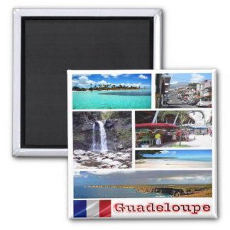 GP - Guadeloupe - Collage Mosaic Magnet