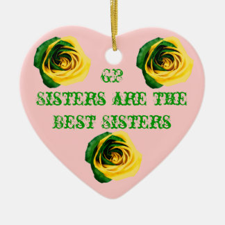 GP Sisters are the best Sisters Ceramic Heart Decoration