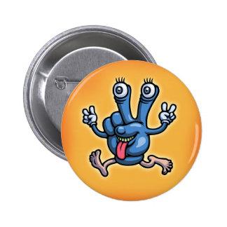 Gpeace & Glove 6 Cm Round Badge