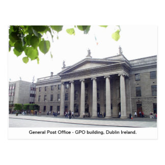 GPO Dublin city Ireland Postcard