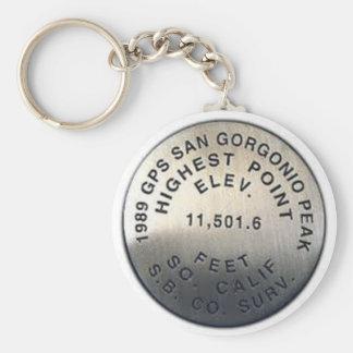 gps benchmark san gorgonio key ring