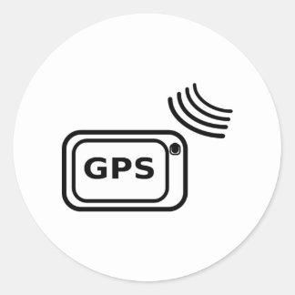 GPS Signal Classic Round Sticker
