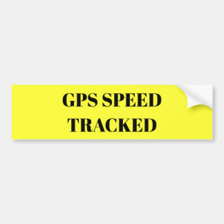 GPS Speed Tracked sticker