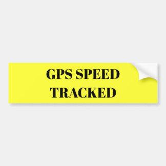 GPS Speed Tracked sticker