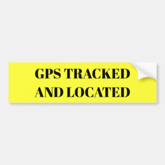 GPS Tracked and Located sticker