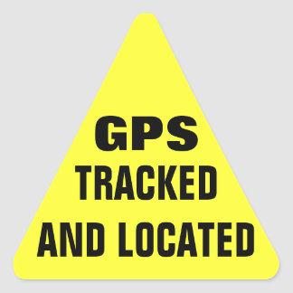 GPS Tracked and Located Triangle Sticker