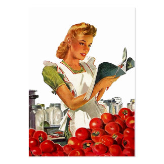 GR8 Retro Style Kitchen Home Canning Gift Tag Card Pack Of Chubby Business Cards