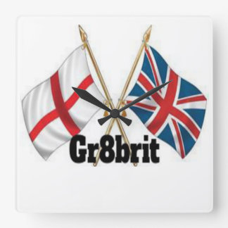 Gr8brit Square Wall Clock