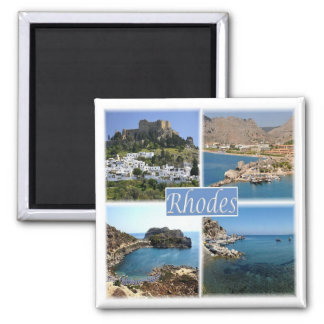 GR * Greece - Rhodes Square Magnet