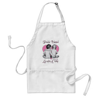 GRA DMA OF TWINS       DOUBLE BLESSED STANDARD APRON