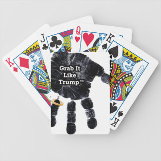 Grab It Like Trump Handprint With Ring Bicycle Playing Cards