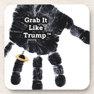 Grab It Like Trump Handprint With Ring Coaster