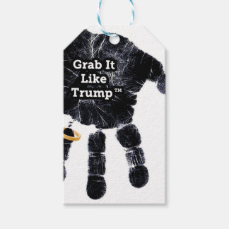 Grab It Like Trump Handprint With Ring Gift Tags