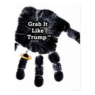 Grab It Like Trump Handprint With Ring Postcard