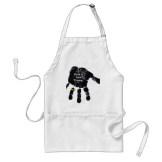 Grab It Like Trump Handprint With Ring Standard Apron