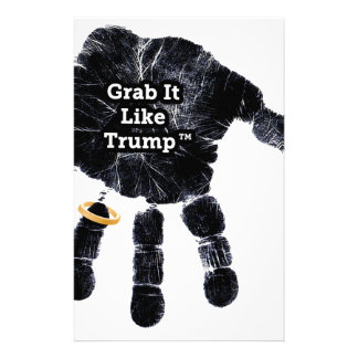 Grab It Like Trump Handprint With Ring Stationery