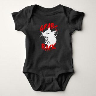 Grabs Back Dark Baby Bodysuit