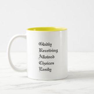 GRACE Acronym Two-Tone Coffee Mug