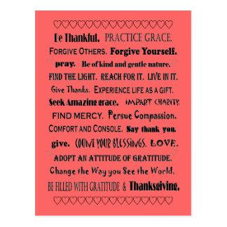 grace and gratitude postcard
