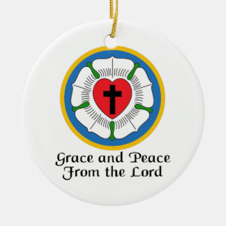 GRACE AND PEACE ROUND CERAMIC DECORATION