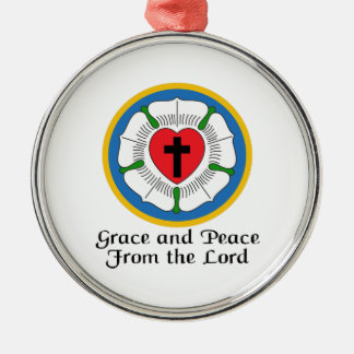 GRACE AND PEACE Silver-Colored ROUND DECORATION