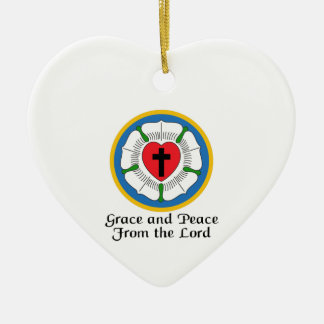 GRACE AND PEACE CERAMIC HEART DECORATION