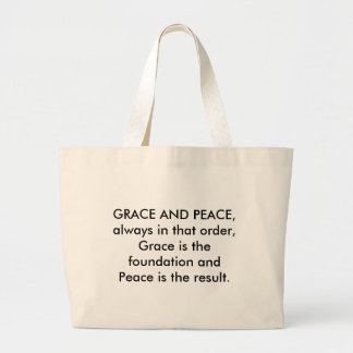 GRACE AND PEACE LARGE TOTE BAG