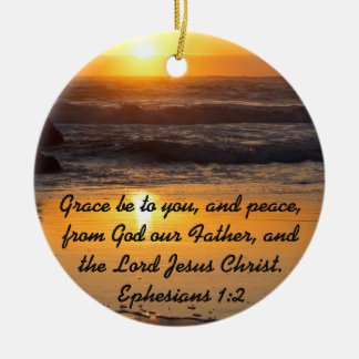 Grace and Peace to You Bible Verse Ornament