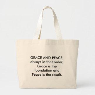 GRACE AND PEACE CANVAS BAG
