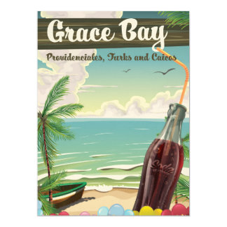 Grace Bay, Providenciales, Turks and Caicos Travel 17 Cm X 22 Cm Invitation Card