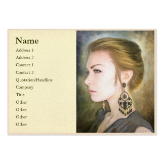 Grace classic digital oil portrait painting woman pack of chubby business cards