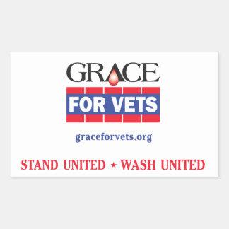 Grace For Vets Rectangular Sticker