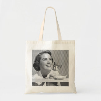 Grace Kelly and cat Tote Bag