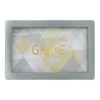Grace Multiplied Rectangular Belt Buckle