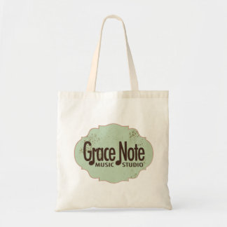 Grace Note Green Fancy Logo Tote Bag