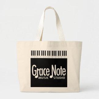 Grace Note Piano Keys Jumbo Tote