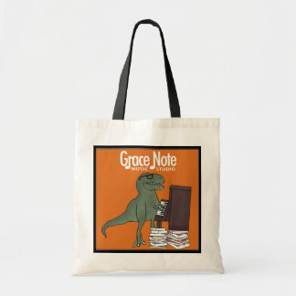 Grace Note T Rex Plays Piano Tote Bag