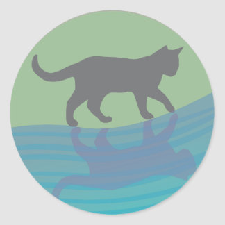 Grace of the River Classic Round Sticker