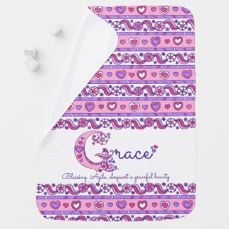 Grace personalize name meaning baby blanket