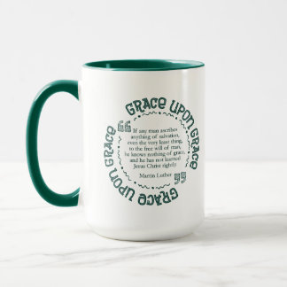 """Grace Upon Grace"" 15 oz. Mug  (Hunter Green)"