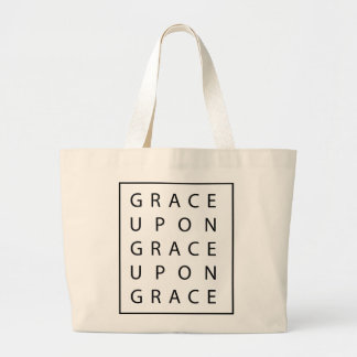 Grace Upon Grace Modern Scripture Large Tote