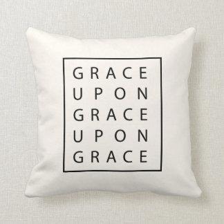 Grace Upon Grace Modern Scripture Throw Pillow